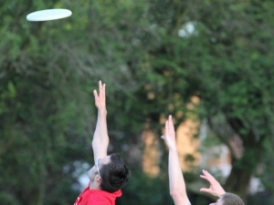 DUFFA Members Bid for a Frisbee Disc in Air