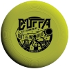 DUFFA Hat 2014 Black 'Out Of This World' logo on fluorescent yellow disc